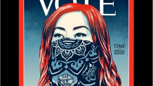"Revista Time cambia logotipo por palabra ""vote"" | PorEsto"