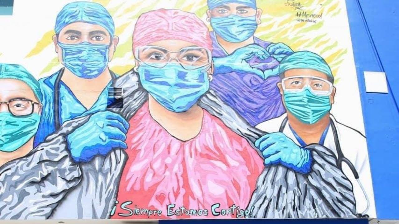 Inauguran mural dedicado a personal que lucha contra COVID-19 en Playa del Carmen: VIDEO | PorEsto