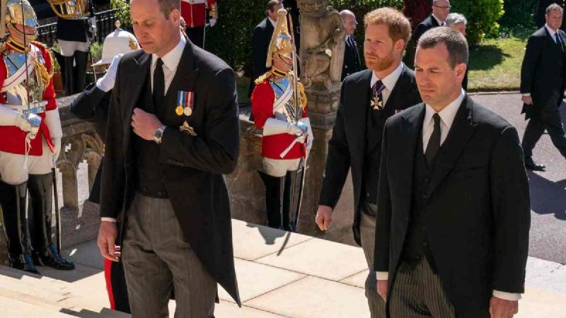 William y Harry se reencuentran durante el funeral del príncipe Felipe
